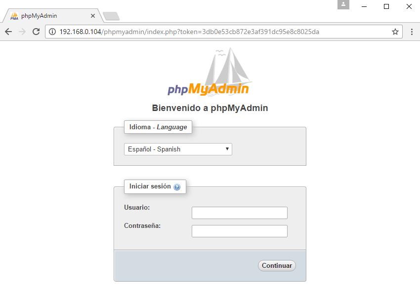 phpMyAdmin Raspberry Pi