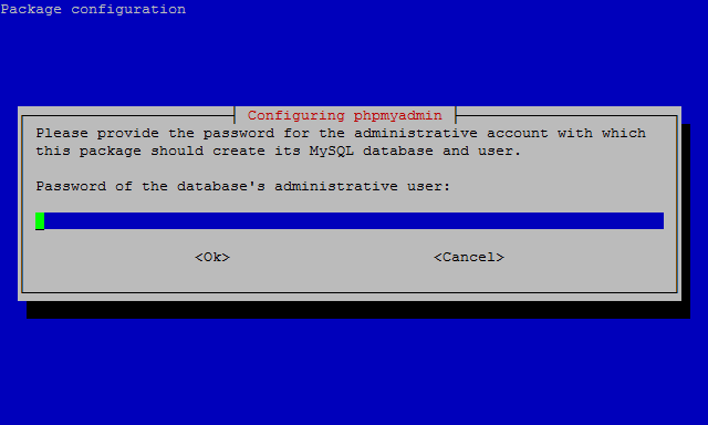 Password phpMyAdmin Raspberry Pi
